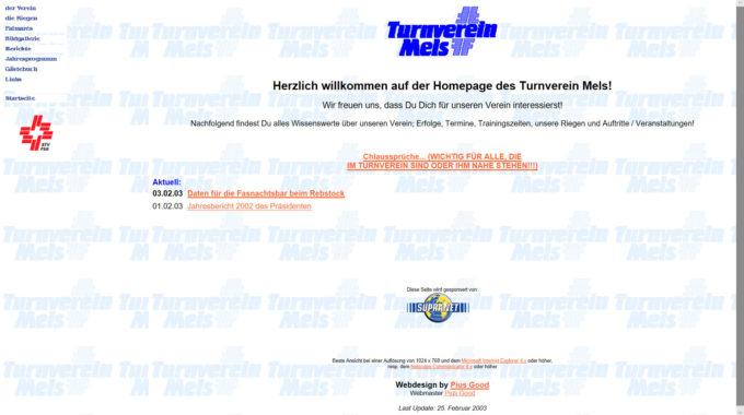 Homepage 1999-2003