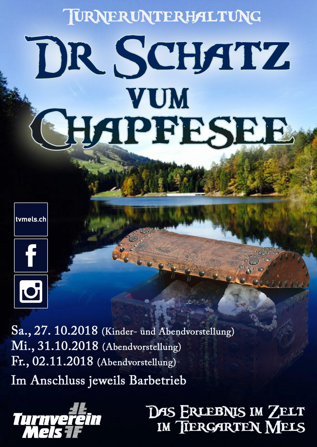 Turnerunterhaltung 2018 - Dr Schatz Vum Chapfesee
